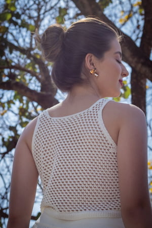 Cropped de tricot Azaleia